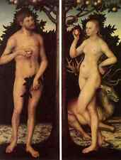 Metal Sign Cranach Lucas The Elder Adam And Eve 2 A4 12x8 Aluminium