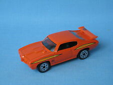 Matchbox 1970 Pontiac GTO with Orange Body Toy Model Car 70mm USA Muscle UB
