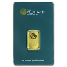 10 gram Perth Mint Gold Bar - In Assay Card - SKU #57162
