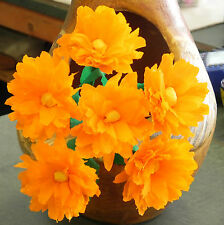 Mexican Crepe Paper flowers Orange Bouquet of 6 MARGARITAS / Crafts/ Party