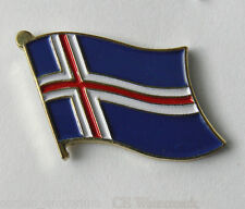 ICELAND NATIONAL COUNTRY WORLD FLAG LAPEL PIN BADGE 1 INCH