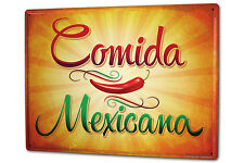 Tin Sign XXL Retro Mexican food metal plate plaque