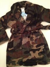 Komar Kids Little Boys Robe Size 4/5 XS Army Green Camo