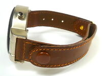 13 mm brown WRIST WATCH BAND PUSH BUTTONS BAND watch band LEATHER