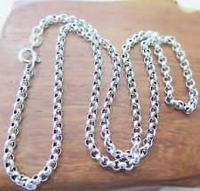 18 inch Pure 925 Sterling Silver Necklace 3mm Rolo Link Chain S925