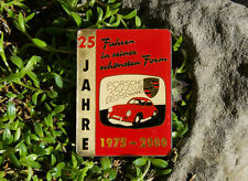 EMAILLE AUTO CLUB PLAKETTE / BADGE # PORSCHE 356 CLUB DEUTSCHLAND TREFFEN 2000