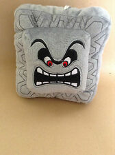 Super Mario Plush Teddy - Thwomp Soft Toy - Size:18cm - NEW