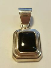 Silpada 925 Sterling Silver Black Onyx Pendant Charm for Necklace ~Retired~