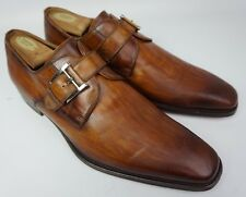 Magnanni Marco Monk Strap Cuero Brown Loafers Leather Shoes Size 11.5 M $325