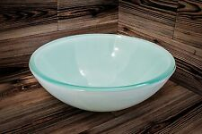 White Bathroom Glass Vessel Basin Sink Vanity Bowl Double Glass