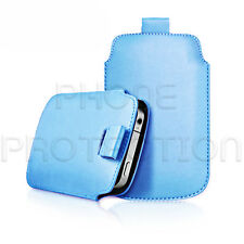 LEATHER PULL TAB SKIN CASE COVER POUCH FITS VARIOUS HUAWEI PHONES