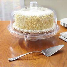 Punch Bowl Cake Stand With Dome Cover Footed Cesar Salad Vegetable Dip Tray
