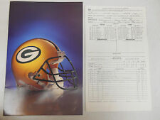 RARE 1988 PACKERS VS GIANTS NATIONAL FOOTBALL LEAGUE SUMMARY IN PACKER FOLDER **