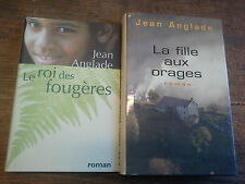 Lot de 2 livres de Jean Anglade Le roi des fougères + la fille aux orages
