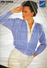 "Knitting pattern Ladies Child Cardigan 3mm 3 3/4mm needles DK 32""- 40"" Vintage"