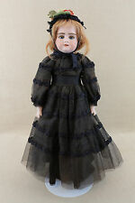 "21"" antique bisque shoulder head leather German Armand Marseille doll Florodora"