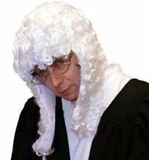 Big Wig-Courtroom-Clerical-Barrister WHITE JUDGES WIG one size only