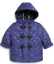 BURBERRY INFANT QUILTED BORIS COAT JACKET SAPPHIRE BLUE SZ 9 MONTHS NWT $250