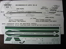 1/144 RUNWAY 30 DECAL DOUGLAS DC 9 EVERGREEN   DECALCOMANIE