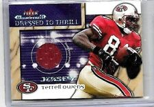 TERRELL OWENS 2002 FLEER MAXIMUM DRESSED TO THRILL GAME USED JERSEY