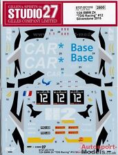 1/24 2015 TDS Racing BMW Z4 GT3 Silverstone #12 decal set ~ Studio 27 DC1110