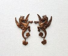 Antiqued Brass Griffin Dragon Stampings (2) - ANTFFA8492-ANTFFA8493