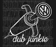 VW V DUB JUNKIE T25 T4 T5 T26 T30 golf passat bora polo lupo up sticker vinyl