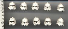 Star Wars LEGO x 10 White Minifig, Headgear Helmet SW Clone Trooper, Plain NEW