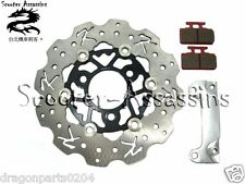 FRONT HUGE WAVEY 220mm FLOATING BIG DISK BRAKE KIT for SYM DD50 MIO 50 100