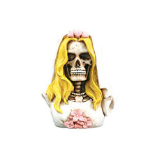 Bride in Wedding Veil Skeleton Bust Figurine Figure Love Never Dies Cool 7238S