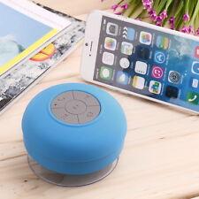 Waterproof Wireless Bluetooth Handsfree Mic Suction Speaker Shower Car mic Blue@