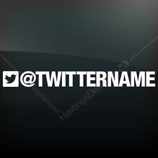 TWITTER NAME Custom Business Car,Van,Shop,Window,Laptop Vinyl Sign Decal Sticker