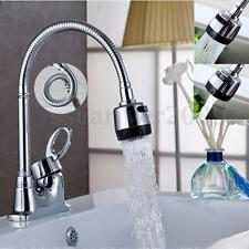 Kitchen Swivel Spout Single Handle Sink Faucet Pull Down Spray Mixer Tap Chrome