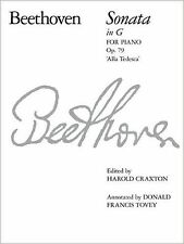 Beethoven Sonata In G For Piano Op. 79 Alla Tedesca ABRSM Book Sheet Music S146