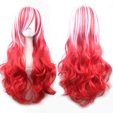 Popular Harajuku Wig Gradient Color Multi-color Fluffy Repair Face Female Wig