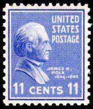 1938 11c James K. Polk Scott 816 Mint F/VF NH