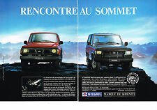 PUBLICITE ADVERTISING   1990    NISSAN  PATROL 4x4   ( 2 pages)