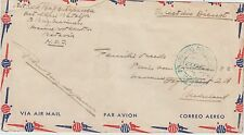 DUTCH EAST INDIES :1943 OAS Airmail envelope to Netherlands-MARINE cancel