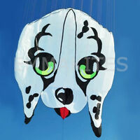 HOT Huge 7.5M / 24.6ft Parafoil 3D Dog Soft Kite Frameless Single Line Easy Fly