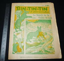 COLLECTION FRANCE EDITION 1920-30 RIN-TIN-TIN J BOURDEAUX #1 RANCH RIVIERE ROUGE