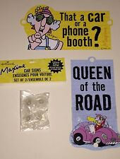 Hallmark Maxine Crabby Car NEW Phone Booth Queen Road Driving Signs