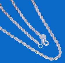 Western Jewelry 4mm 925 Sterling Silver Plated French Rope  Chain 22""