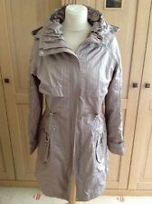 FANTASTIC CLEMENTS RIBEIRO TAUPE LIGHTWEIGHT MAC UK SIZE 12 WORN ONCE GREAT COND