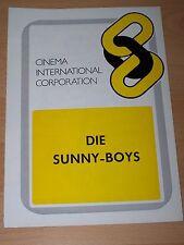 DIE SUNNY BOYS - Werberatschlag ´76 - WALTER MATTHAU George Burns