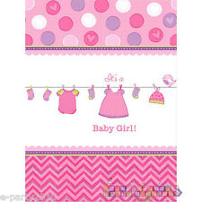 SHOWER WITH LOVE GIRL PLASTIC TABLE COVER ~ Baby Party Supplies Decorations Pink