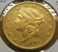 1891-S~~$20 DOLLAR GOLD DOUBLE EAGLE~~XF BEAUTY