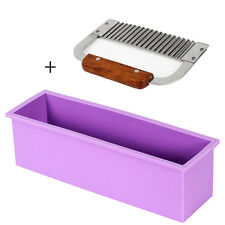 Soap Silicone Liner Mold Loaf With Crinkle Wavy Cutter Stainless Steel Maker Set