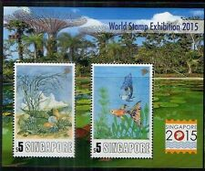 Singapore 2013 stamps - World Exh 2015 Series 2 Fish, Shell Sheet MNH