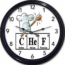 "Chef Periodic Table Clock Chemistry Elements Kitchen Bakery Baker ""Breaking Bad"""