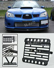 For 02-07 Subaru WRX & STI Front Bumper Tow Hook License Plate Mount Bracket